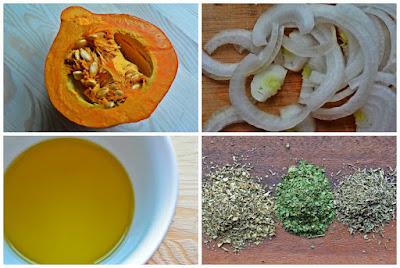 Aromatyczna dynia z pieca - składniki