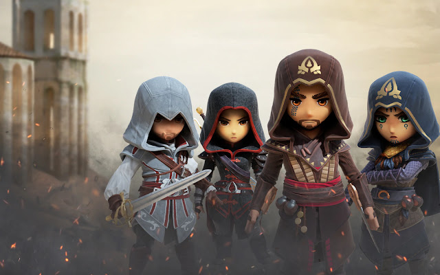Assassin's Creed Rebellion: Ezio Auditore, Shao Jun, Aguilar de Nerha e Maria