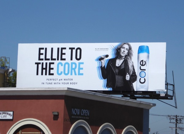 Ellie to the Core Bottled water billboard