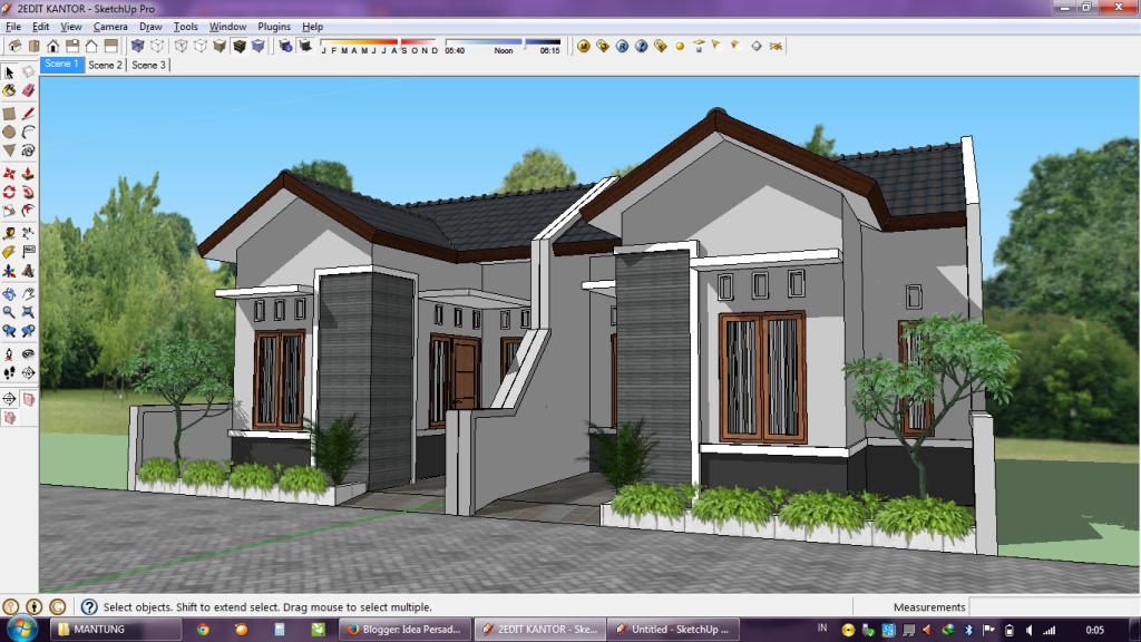 Gambar Desain Rumah Minimalis Yg Bagus  idea persada arsitektur desain proses membuat gambar 3d