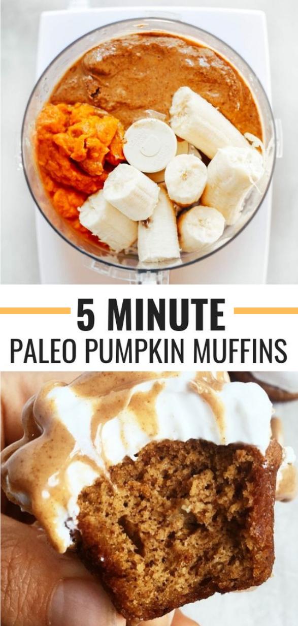 GLUTEN FREE PALEO PUMPKIN PROTEIN MUFFINS #muffin #pumpkin
