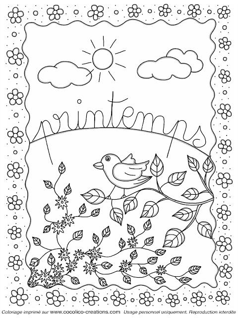 Coloriage Couleur Printemps.Cocolico Creations Mercredi Coloriages Le Printemps