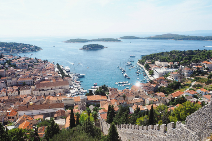Hvar from above