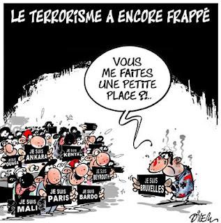 Dessin d'Ali Dilem après les attentats de Bruxelles