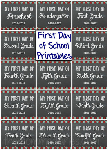 First Day of School FREE Printables, back-to-school printables, free printables