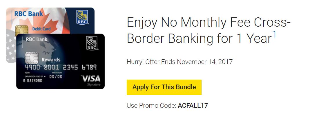 td cross border banking credit card application
