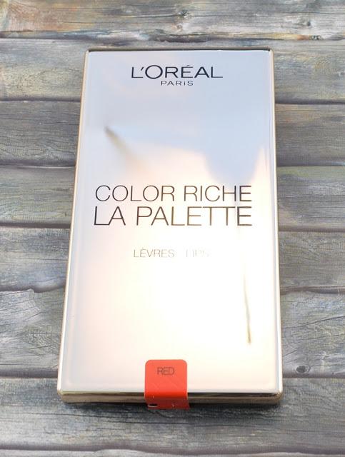 L'oréal color riche la palette lips red