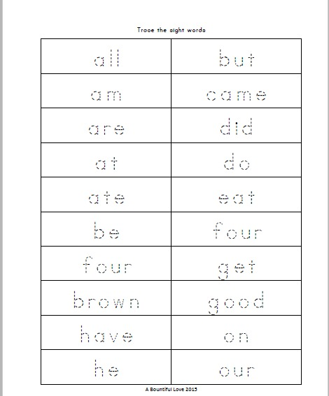 Sight Word Trace, Write and Glue by Lisa Morrow | TpT  |Trace And Write Sight Words