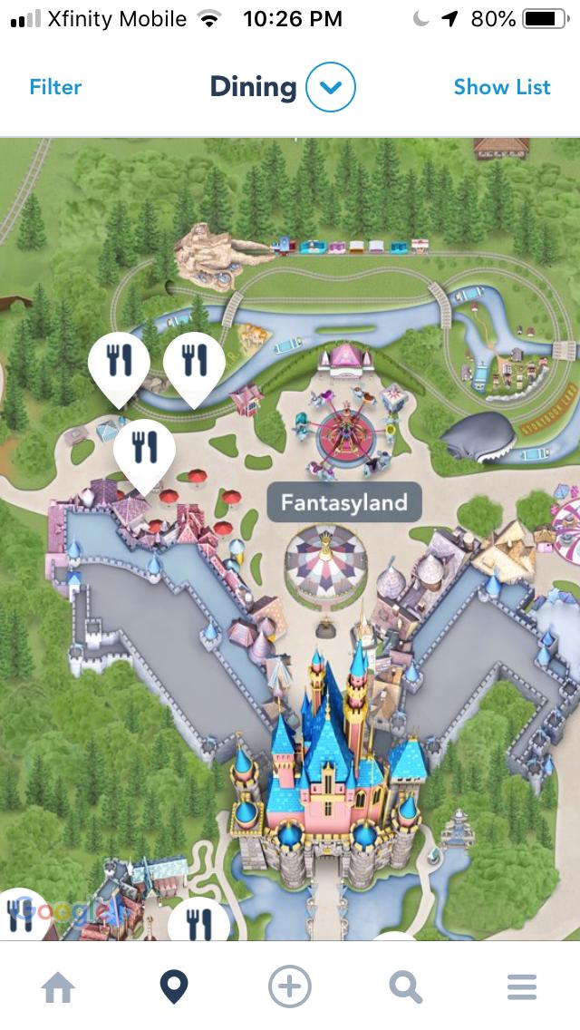 How to Find the Gluten Free menu via Disneyland App - Janel ... Disneyland Map App on disney world map app, disneyland street map, six flags map app,