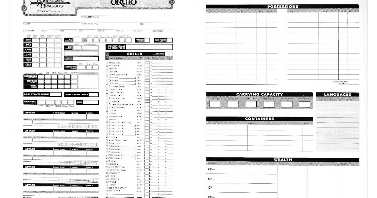 Deluxe character sheet 3.5 pdf writer
