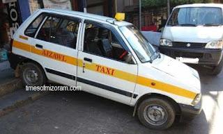 Aizawl taxi traffic aizawl