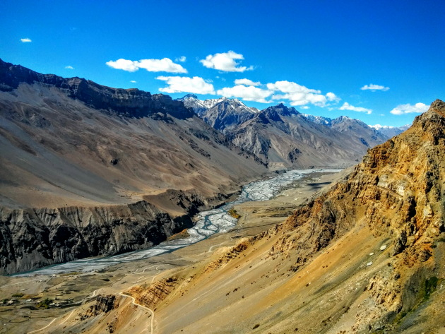 Surreal Spiti Valley as seen while descending from Komic