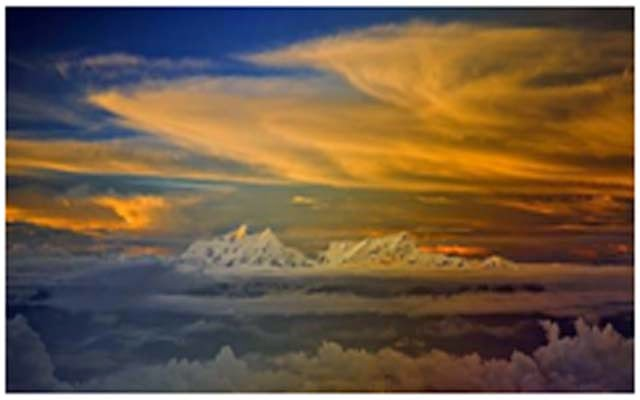 Puncak Himalaya Tibet