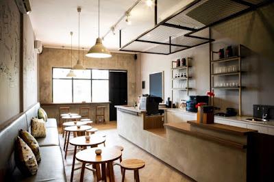 desain cafe kopi modern kekinian