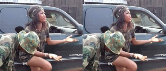 Soldier Stripped Nigerian Lady For Wearing Camouflage (Photos)
