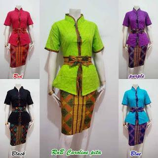 Baju Batik Model Mini Dress Modern Untuk Kerja