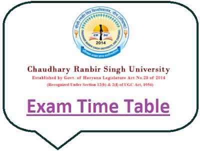 CRSU Time Table 2020