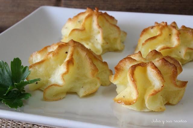Patatas duquesa. Julia y sus recetas