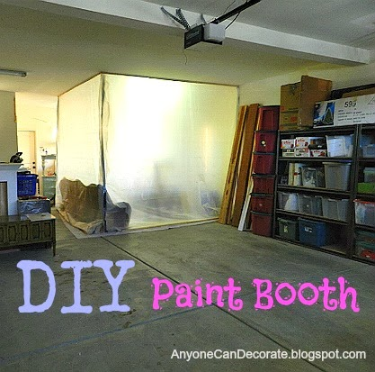 Anyone Can Decorate: DIY Garage Spray Paint Booth