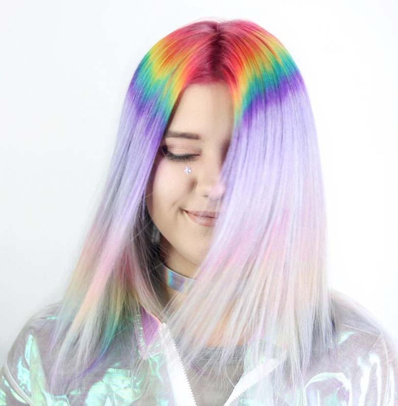 This Incredible Prism Roots Hair Trend Will Make You Feel Like A