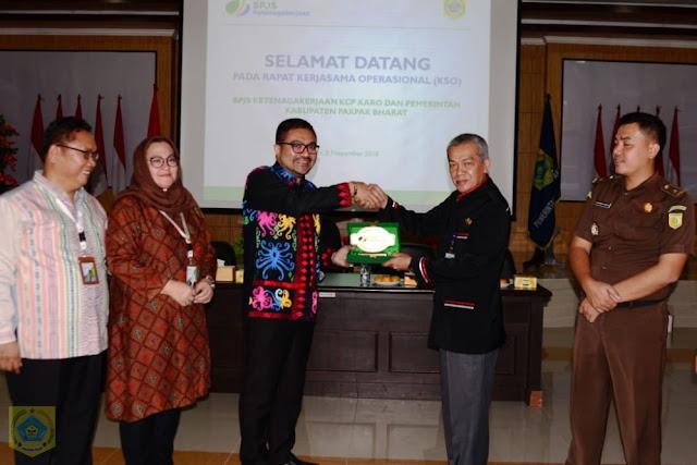 Pemkab Pakpak Bharat Laksanakan Rapat Kerjasama Operasional BPJS Ketenagakerjaan Kantor Wilayah Sumbagut..