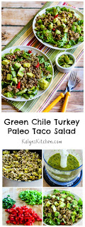 Green Chile Turkey Paleo Taco Salad found on KalynsKitchen.com
