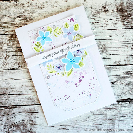 Mini Modern Blooms stamp set and Die-namics - Gemma #mftstamps