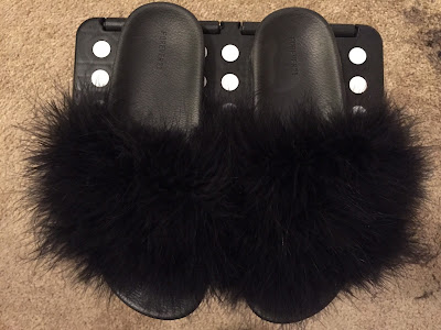 DIY Fur Slide Sandals