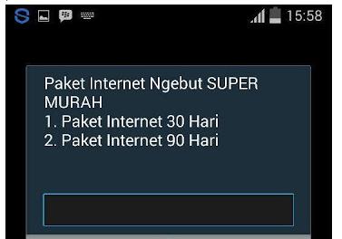 Lalu pilih paket internet sesuai dengan kebutuhan Anda.