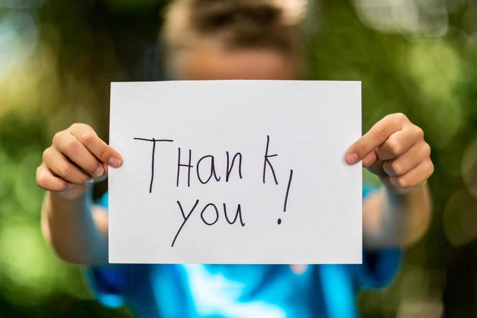 Teaching Children To Say Thank You
