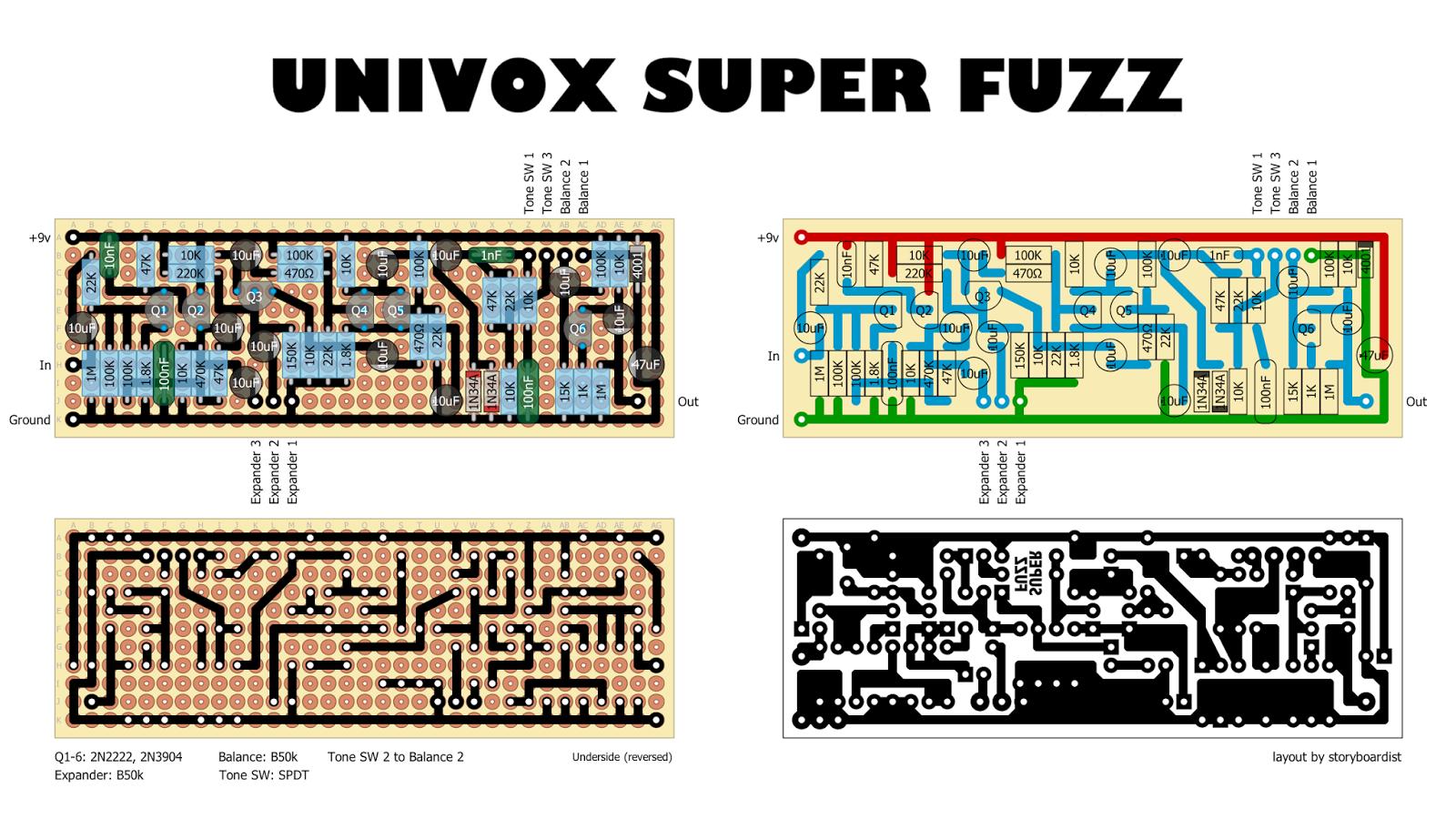 Univox%2BSuperFuzz%2B-%2Bstock Univox Super Fuzz Schematic on