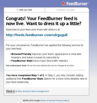 memasangkan feedburner
