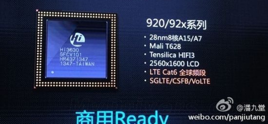 Huawei Rilis Chipset Octa-core Kirin 920