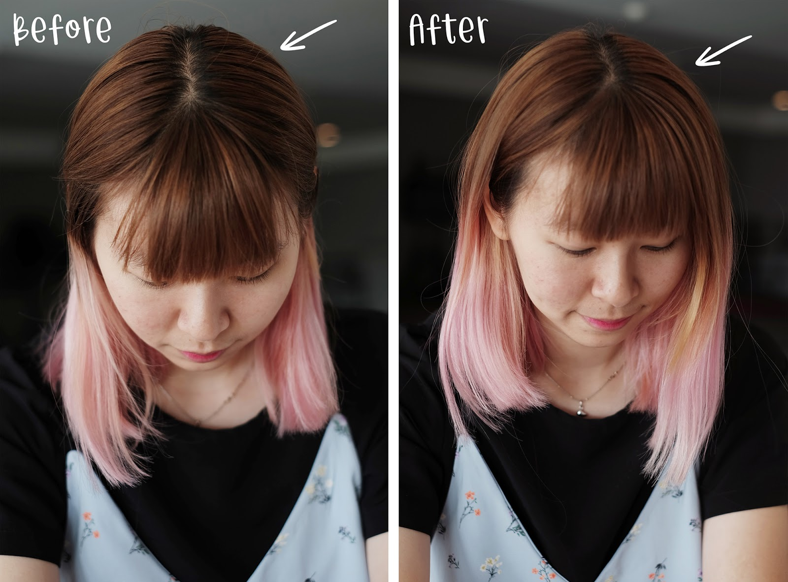 Ellips Dry Shampoo Before After | www.bigdreamerblog.com