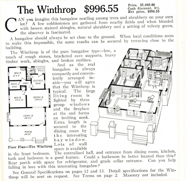 Aladdin Winthrop 1917 catalog floor plan