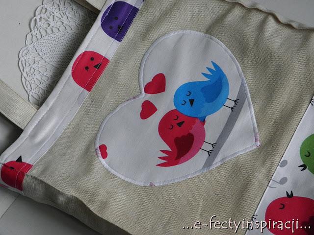 torba na zakupy, duża torba, pomysł na prezent, świąteczne podarki, jak uszyć torbę na zakupy, e-fectyinspiracji