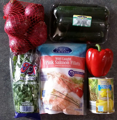 Ingredients for Cilantro Pepper Pineapple Salmon