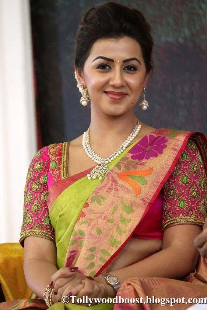Nikki Galrani Stills At Film Audio launch In Green Saree