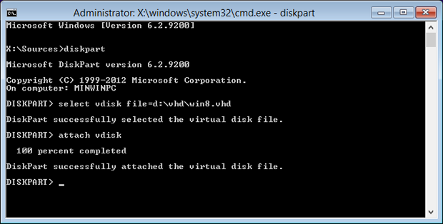 Install Windows 8 to VHD for Easy Dual Booting