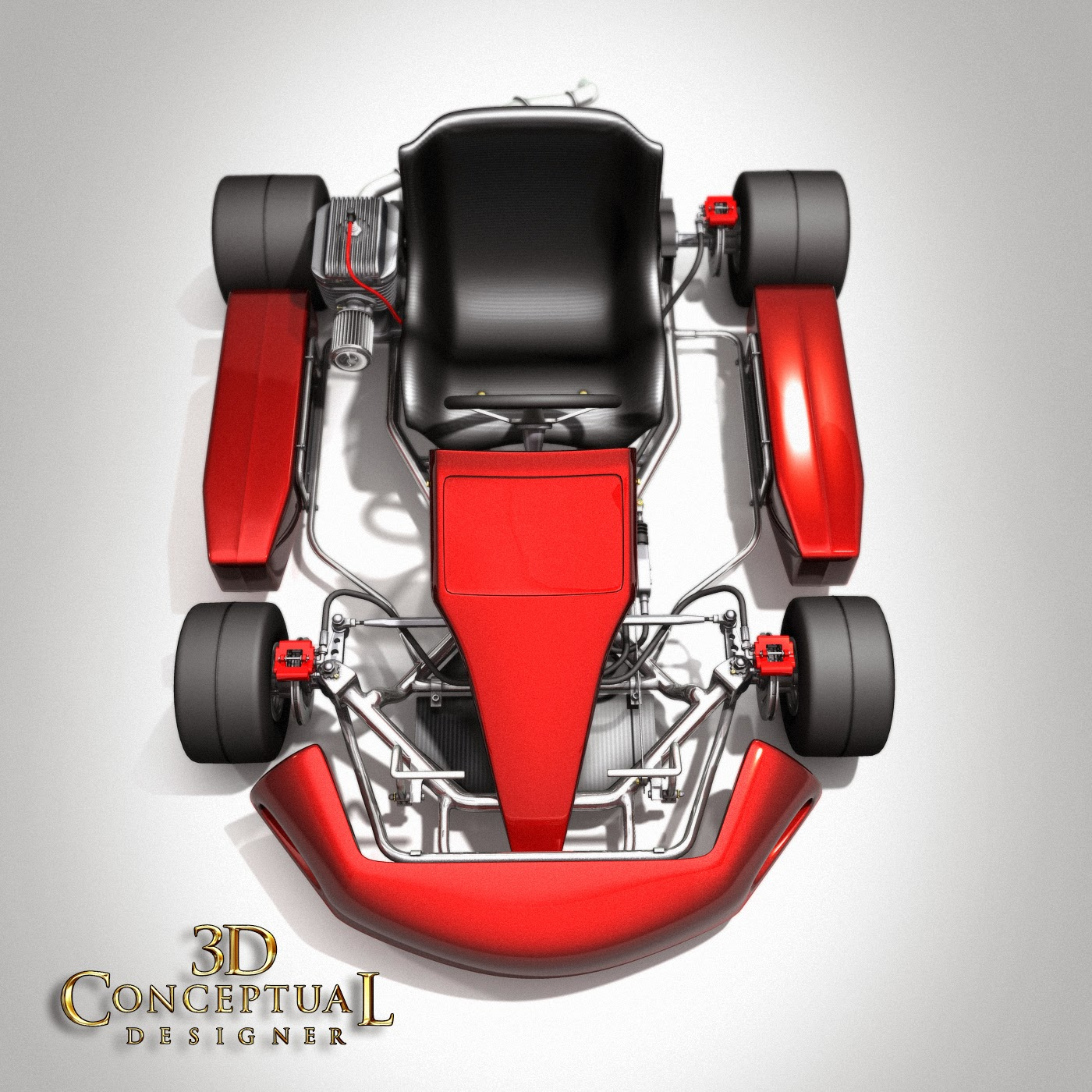 3DconceptualdesignerBlog: 3D Stock Model Build Review: Shifter Kart