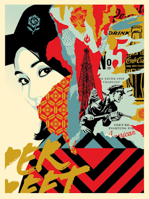 """Drink Crude Oil"" Obey Giant Screen Print by Shephard Fairey"