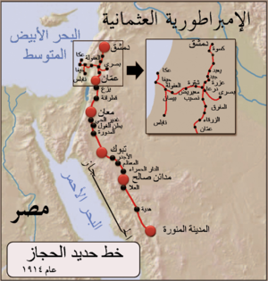 خريطة خط قطار الحجاز
