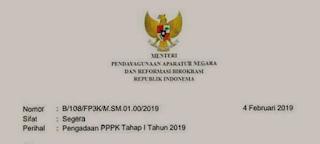 Jadwal Pengadaan PPPK/P3K Tahap I 2019