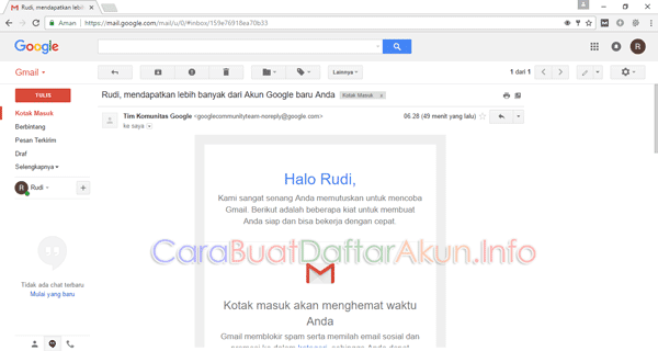 cara membuat e mail di laptop