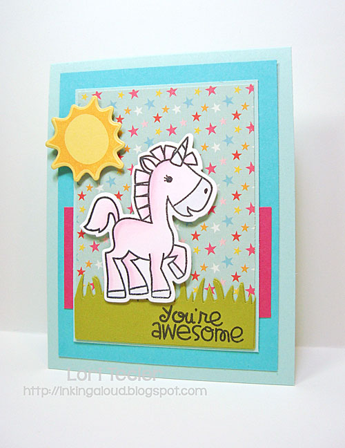 You're Awesome card-designed by Lori Tecler/Inking Aloud-stamps and dies from Paper Smooches