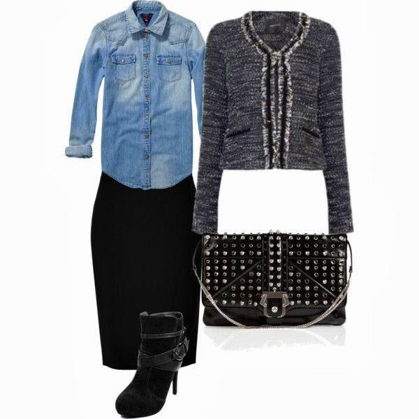 Outfit como combinar una camisa denim