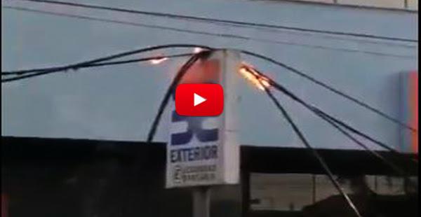 Se incendiaron las lineas eléctricas y transformadores en Maturín