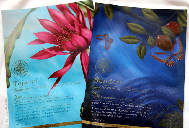 Forest Essentials Ayurvedic Sheet Mask review, Forest Essentials Tejasvi sheet mask review, Forest Essentials sundari sheet mask review