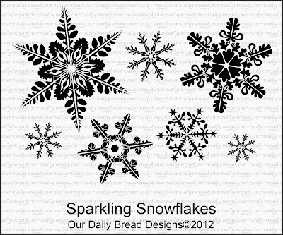 Stamps - Our Daily Bread Designs Sparkling Snowflakes