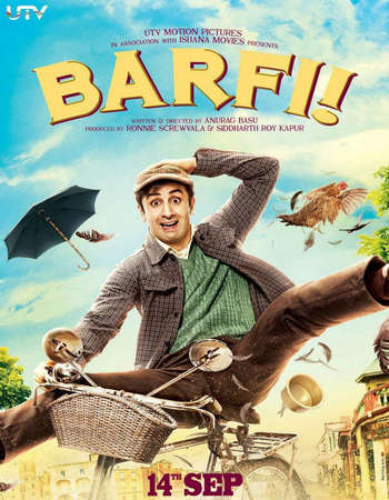 Poster Of Barfi! 2012 Hindi 500MB BRRip 720p ESubs HEVC Watch Online Free Download Worldfree4u